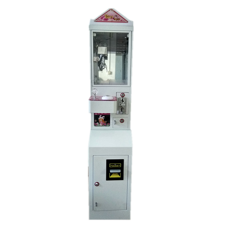 Metal Case freestanding  Mini Claw Crane Machine with bill acceptor and base can be separated 5 year warranty