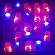 LED Light Minions Brooches With Battery Night for Kids