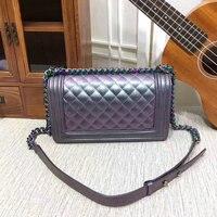 High quality shoulder bag women luxury brand women leather handbags le boy bags flap designer 25cm free shipping