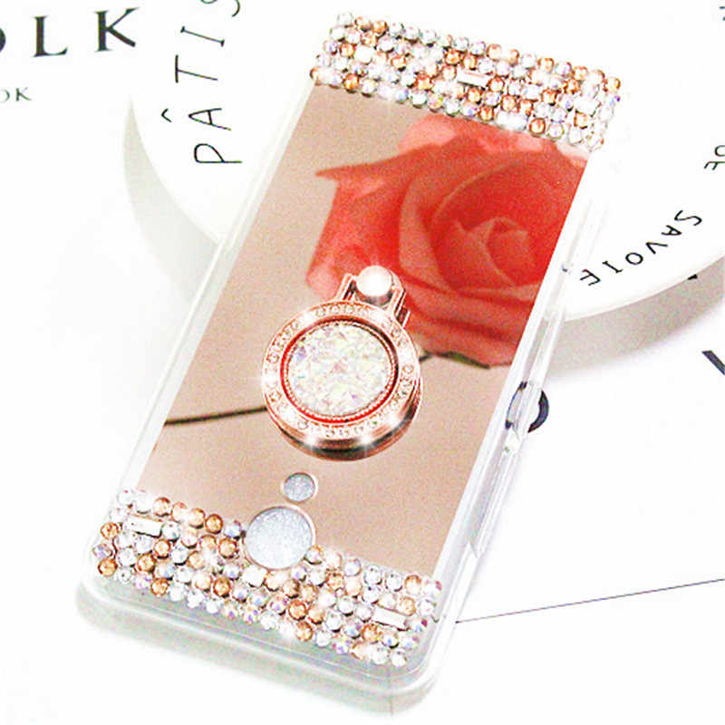Чехол для телефона чехол для Meizu M5 Note, силиконовый чехол, новый роскошный держатель кольца, мягкий, зеркальный, из ТПУ, чехол для Meizu M6 Note
