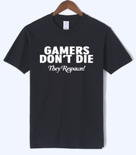2018 summer GAMERS DON'T DIE printed T-shirt 100% cotton high quality casual men's T-shirts brand clothing Crossfit top tees