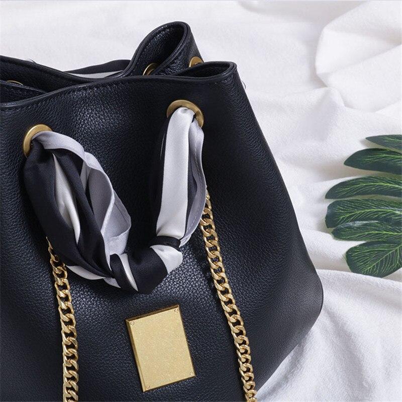 black À Main 2019 Femmes Sac Cuir Mode Marque Solide Bandoulière Dames caramel Seau Haute Nouvelles Beige Véritable De Sacs White khaki Qualité En Designer Postier X8PnwkZN0O