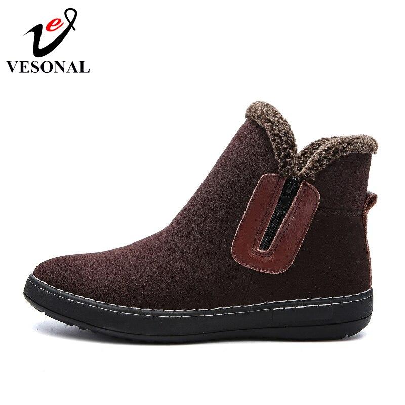 Boots Haute D'hiver Black Chaussures Neige Confort Hommes Courte Pour Mode 2018 Top Bottes Chaud Peluche De Troupeau brown Fourrure Mâle Cheville Vesonal Boots Adulte RwgqUxAPq