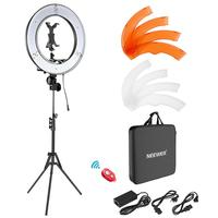 Neewer Ring Light Kit: 18 inches Outer 55W 5500K Dimmable LED Ring Light with Light Stand /iPad Clamp/Soft Tube/Color Filter