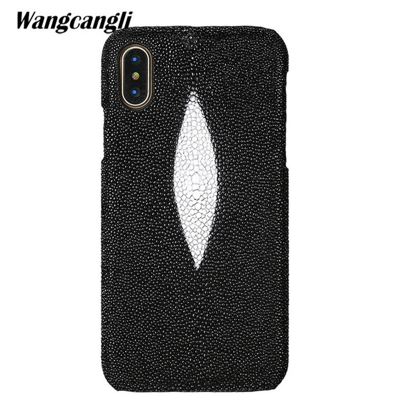 Wangcangli marque véritable peau de serpent étui de téléphone pour xiaomi mi Max 3 téléphone couverture arrière étui de protection en cuir coque de téléphone