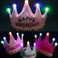 Партия cap Дети день рождения новый год свет корона головные уборы принц принцесса король корона крышка Рождество Хэллоуин Свет-Вверх игрушки