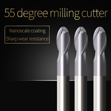 Ball Nose End Mill Sprial Bit Cutting HRC55 2 Flute 1mm 2mm 3mm 4mm 5mm Carbide Tungsten Steel Milling Cutter