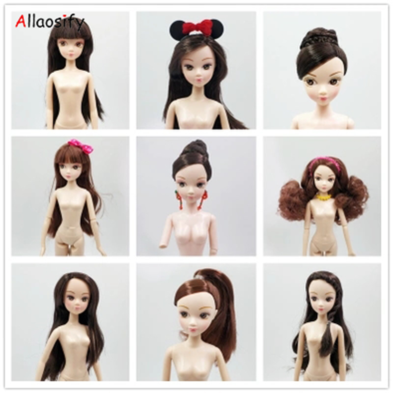Allaosify Baby nude BJD baby head body heart Yilijia OB doll open eye modification DIY cake model accessories image