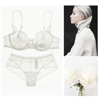 Fashion ultra-thin sexy lace bra t
