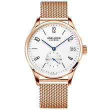 Agelocer Luxury Rose Gold Watches for Men Famous Brand Analog Automatic Watches Genuine Leather Strap 1101A1-1202A1