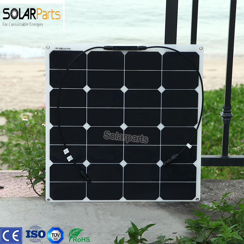 Boguang 1x 50w free shipment Solar Panel flexible 12V Solar system solar module solar cell outdoor RV/marine/boat cheap sales 100w folding solar panel solar battery charger for car boat caravan golf cart