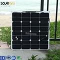 Solarparts 1x 50w free shipment Solar Panel flexible 12V Solar system solar module solar cell outdoor RV/marine/boat cheap sales