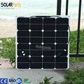 Solarparts 1x50 Вт бесплатная отправка гибкие Солнечные Панели 12 В Солнечная система солнечный модуль солнечных батарей открытый RV/морской/лодка дешевые продаж