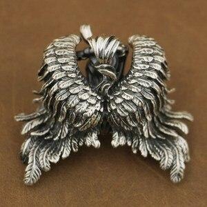 Image 4 - LINSION Высокая деталь 925 пробы серебряный кулон Андромеда сексуальный ангел Байкерский кулон TA82