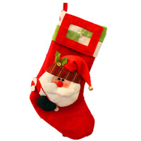 New Year 2016 Christmas Stockings Socks Santa Claus Candy Gift Can Put Photo Picture Bag Xmas