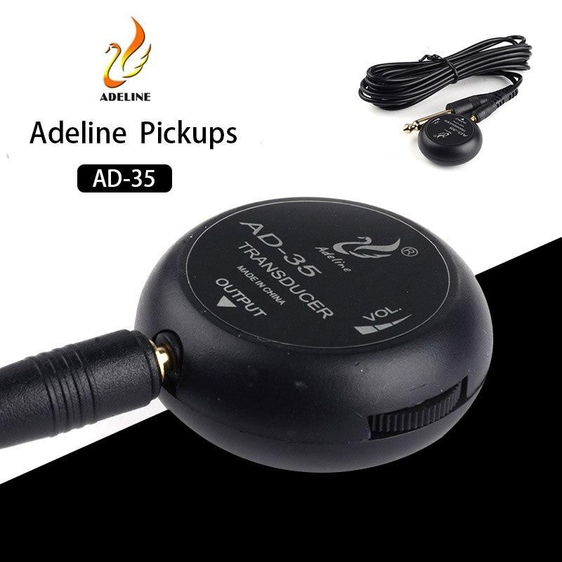 Adeline AD-35 Mini prise de son amplificateur piézo-électrique capteur bâton pick-up pour guitare acoustique ukulélé violon alto violoncelle Banjo