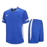 2017 New Kid Men Sports Maillots De Football Training Suit Soccer Jerseys Sets Kids Futbol Shorts