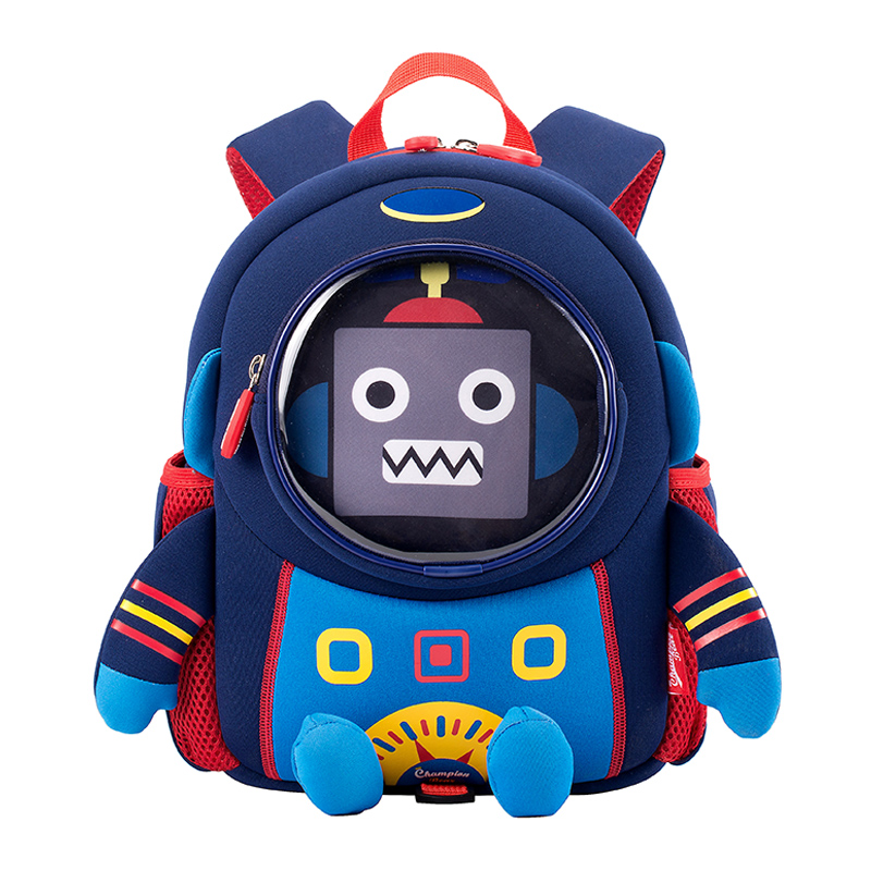 Anti-lost 3D Cartoon Space Robot Children Backpack Kids Girls Boys School Bags Toddler Baby Kindergarten Backpack