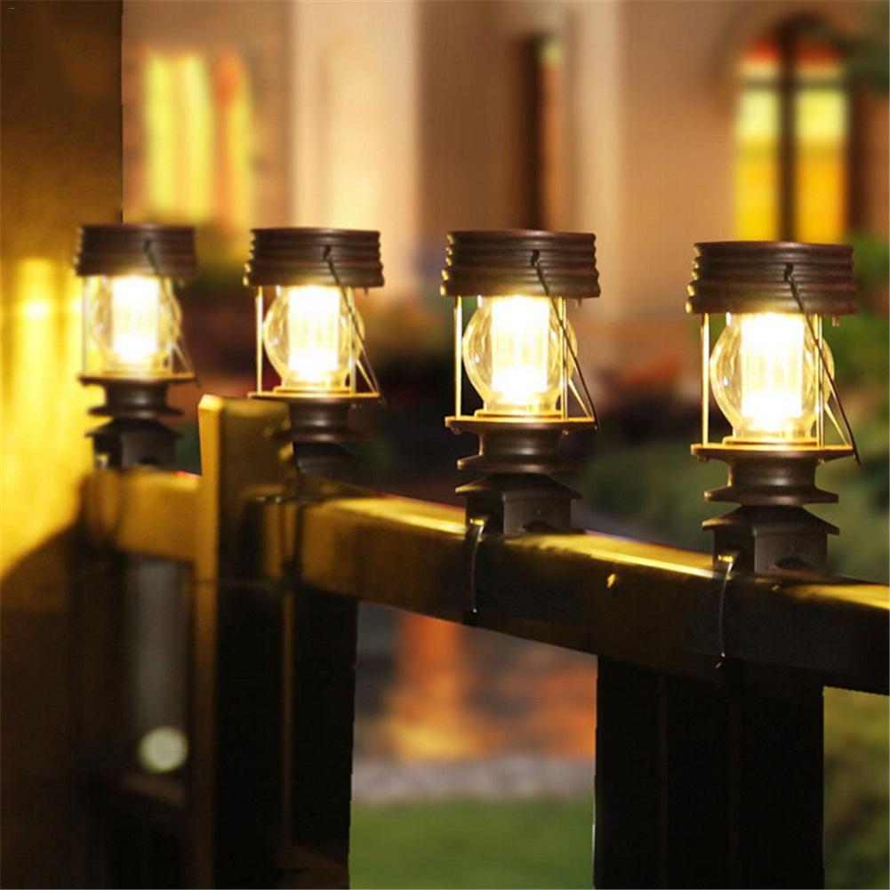 2Pcs/Lot Led Solar Garden lights Solar Column lamp Hanging Lantern ...