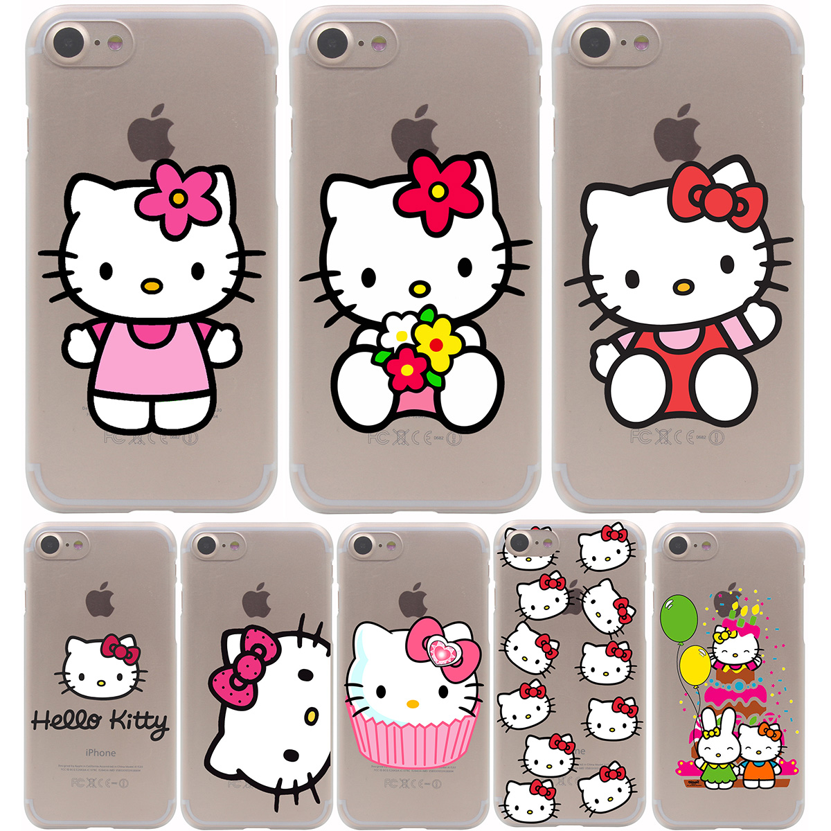 hello kitty Hard Transparent Case for iPhone 7 7 Plus 6 6S Plus 5 5S SE 5C 4 4S