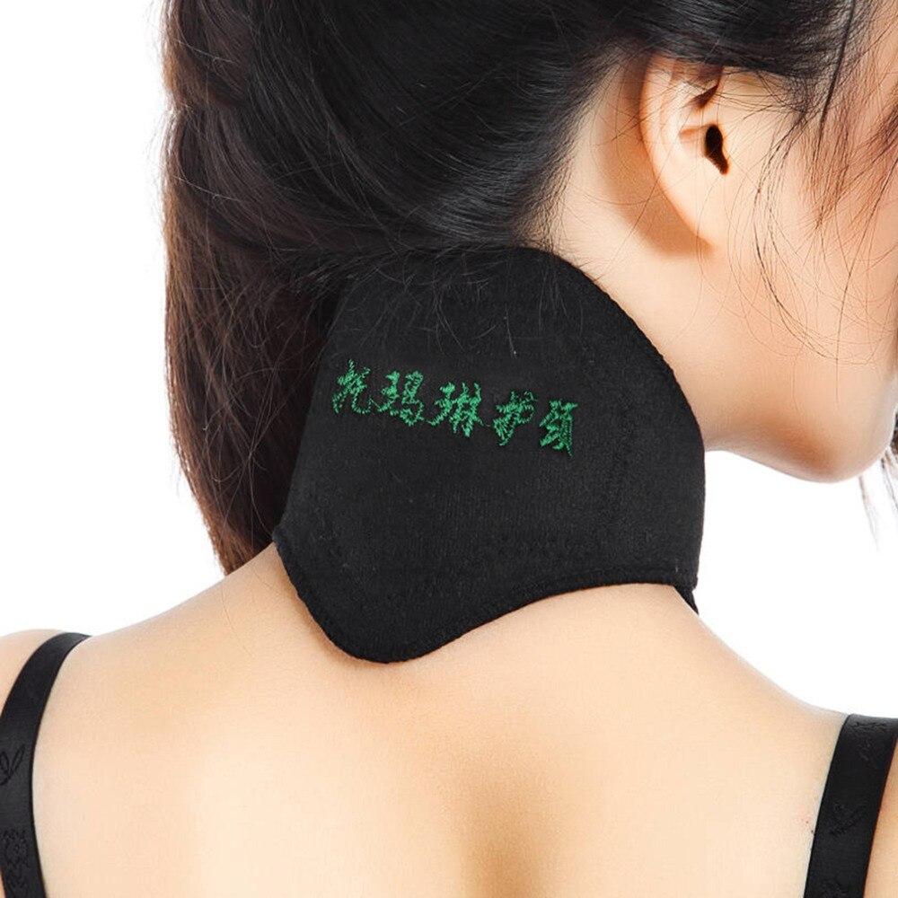 Produtos magnéticos pretos macios do protetor do protetor do protetor do massager da dor de cabeça do aquecimento espontâneo da terapia da correia de turmalina dos apoios do pescoço