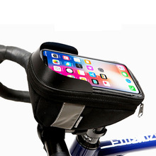 MTB Road Bicycle Bike Bags Rainproof Touch Screen Cycling Top Front Tube Frame Bags 1.5L Phone Case Bike Accessories