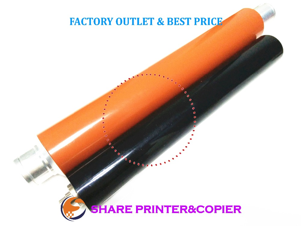 SHARE 1set Upper Fuser Roller + pressure roller M052-4101 M052-4059 for ricoh SP5200DN SP5210DN SP5200S SP5210SF 1pcs for brother printers mfc9140 9330 9340 hl3150 upper fuser roller