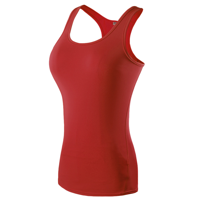 Sleeveless Elastic Women's Sports T- Shirts