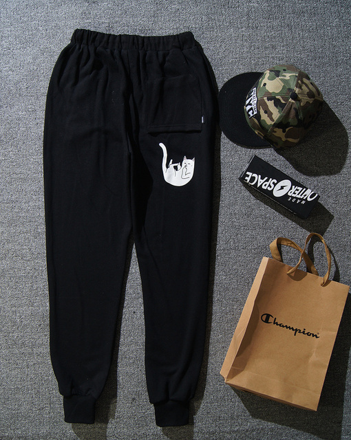 RIPNDIP Pants Men Women High Quality 100% Cotton Hip Hop Joggers YEEZY Boost Clothing Fear of God Gymshark RIPNDIP army Pants