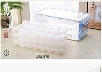 Wholesale /retail,free shipping, 3 .25 L three layers ice cube tray lid frozen block of ice mold box / ice box / Iceman folder
