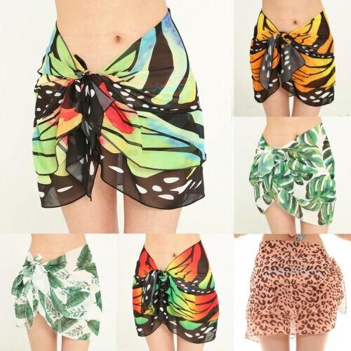 2019 Women Beach Bikini Cover Up Swim Skirt Short Wrap Sarong Beachwear Pareo