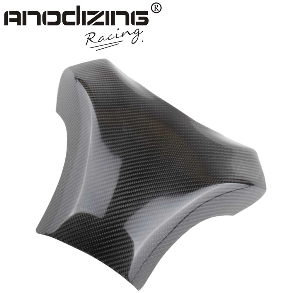 Carbon Fiber Fuel Gas Tank Cover Protector For Kawasaki ZX-10R 2004-2005 black color motorcycle accessories carbon fiber fuel gas tank protector pad shield rear carbon fiber for kawasaki z1000 03 06