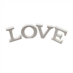 Image 2 - 1pcs Home Decoration Wood Wooden Letter Alphabet Word for Happy Birthday Wedding Decor Supplies White Eglish Letters Baby Shower