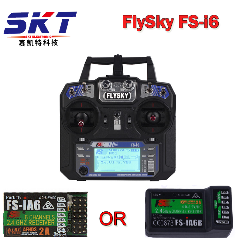 2017 Hot Selling FlySky FS-i6 2.4G 6CH AFHDS RC Transmitter With FS-iA6 FS-iA6B Receiver for Airplane Heli UAV Multicopter Drone
