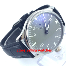 44mm parnis 6497 Mechanical manual wind mens watch