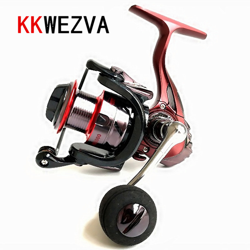 KKWEZVA Metal Deep cup 2000H-5000H Spinning Fishing Reel Hi-Speed Full Metal Spinning Wheel + Metal Rocker And EVA hold