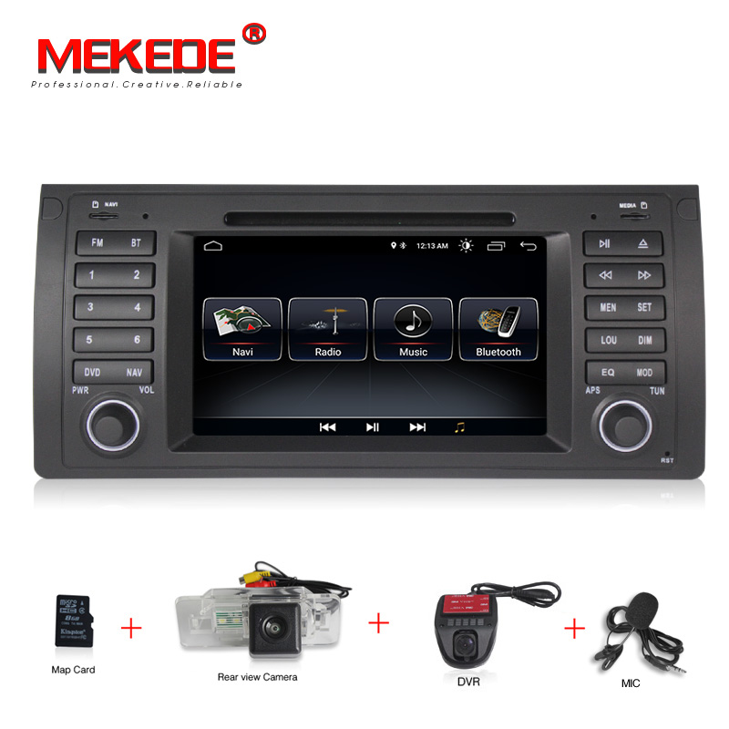 Car Multimedia Player GPS Android 8.0 1 Din Car DVD Playe Autoradio for BMW/E39/X5/E53/E46/M3/MG/ZT/Rover 75 Wifi Radio FM+8G ma