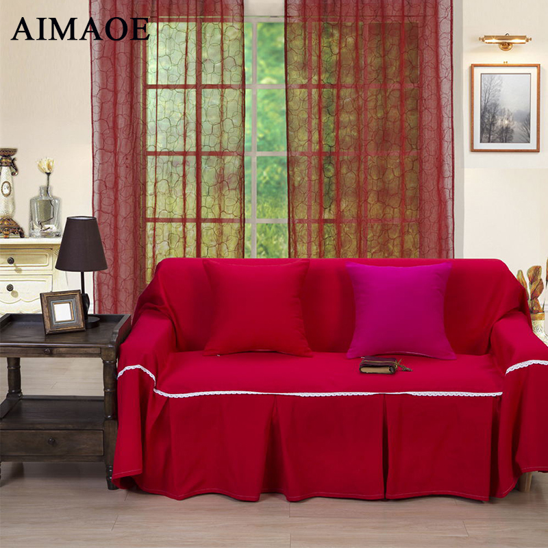 2016 Fashion thickening cotton canvas solid color towel slipcover <font><b>sofa</b></font> fabric cover <font><b>sofa</b></font> ZR-002
