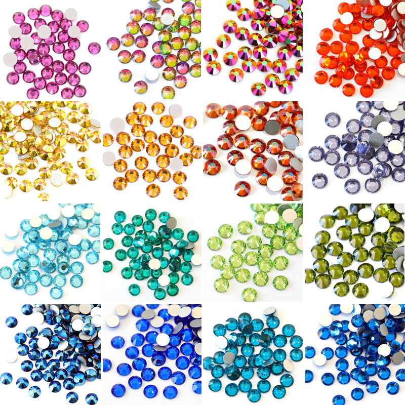 48fd9caeec US $2.76 45% OFF|2028 SS12 SS34 Multicolor Glass Non Hot Fix Rhineston  Crystal Glass Strass Non Hotfix Rhinestones For Nail Art Decorations  B3398-in ...