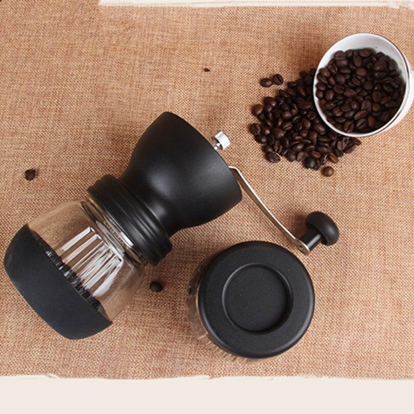 Moulin À café À La Main En Céramique Manuel ABS Céramique Noyau En Acier Inoxydable moulin à café Cuisine Mini Main Manuel Moulin À Café