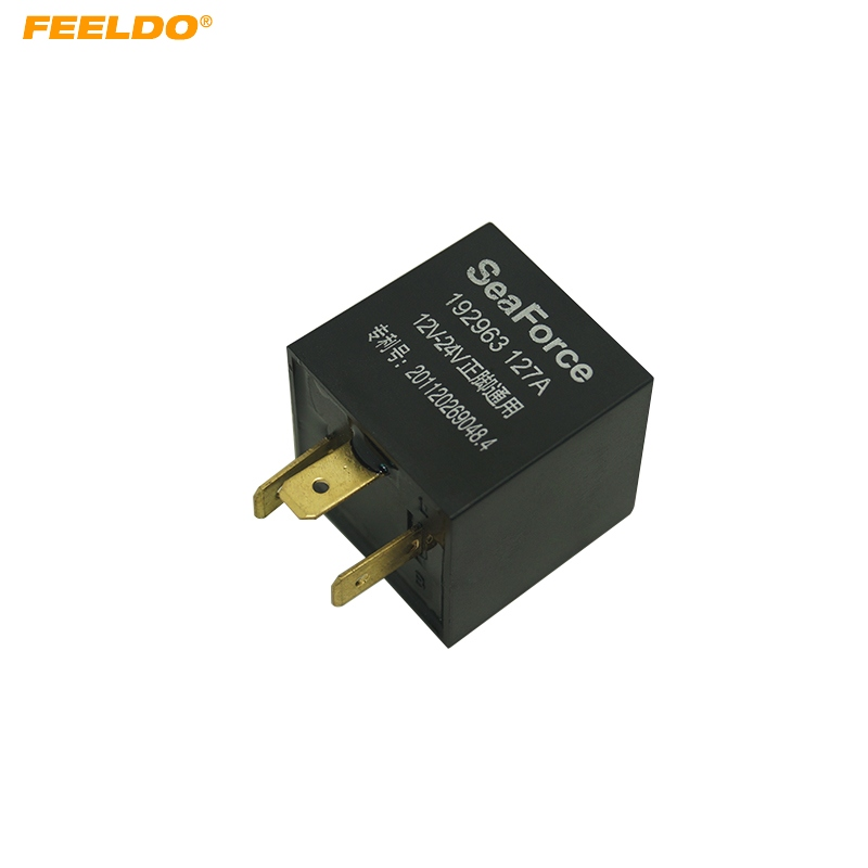 FEELDO For Ford Volkswagen Series 3 Pin Car Electronic LED Flasher Relay to Fix Turn Signal Blinker Light flasher relay #CA5359