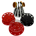 10 Holes Makeup Brush Holder Round Shaped Makeup Brush Showing Rack Makeup Brush Drying Display Stand Storage 4 Color