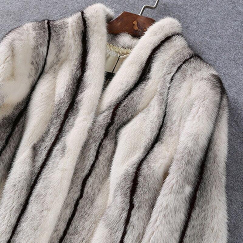 LVCHI mantel bulu nyata untuk wanita mantel bulu alami nyata Rusia - Pakaian Wanita - Foto 5