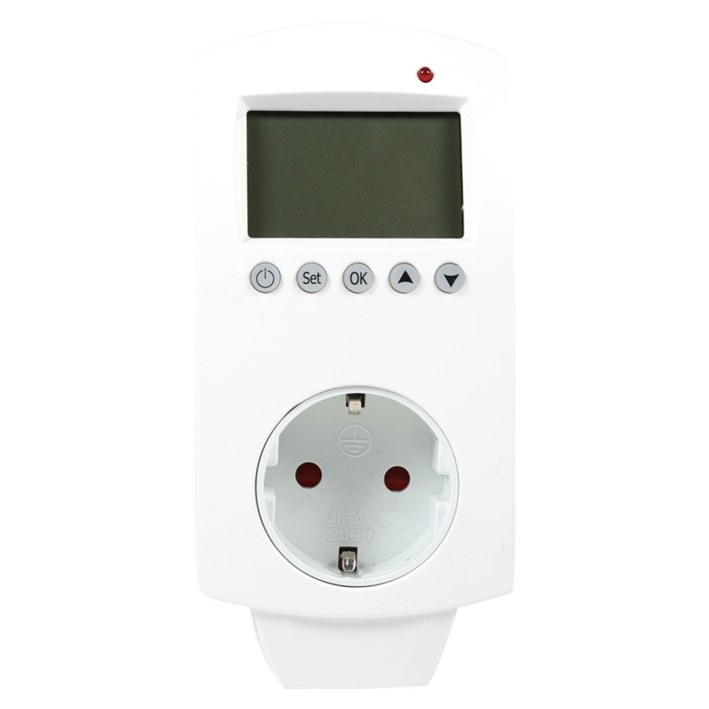 EU/UK Standard termohigrometros digital Plug In Thermostat ...