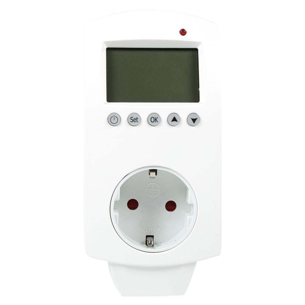 Termômetros padrão eu/uk, tomada digital de termostato controlador de temperatura digital programável com saída