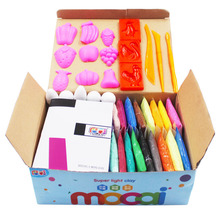 24 colors Air dried Colored Clay good package playdough Soft Modelling Clay Set Toys Play Dough