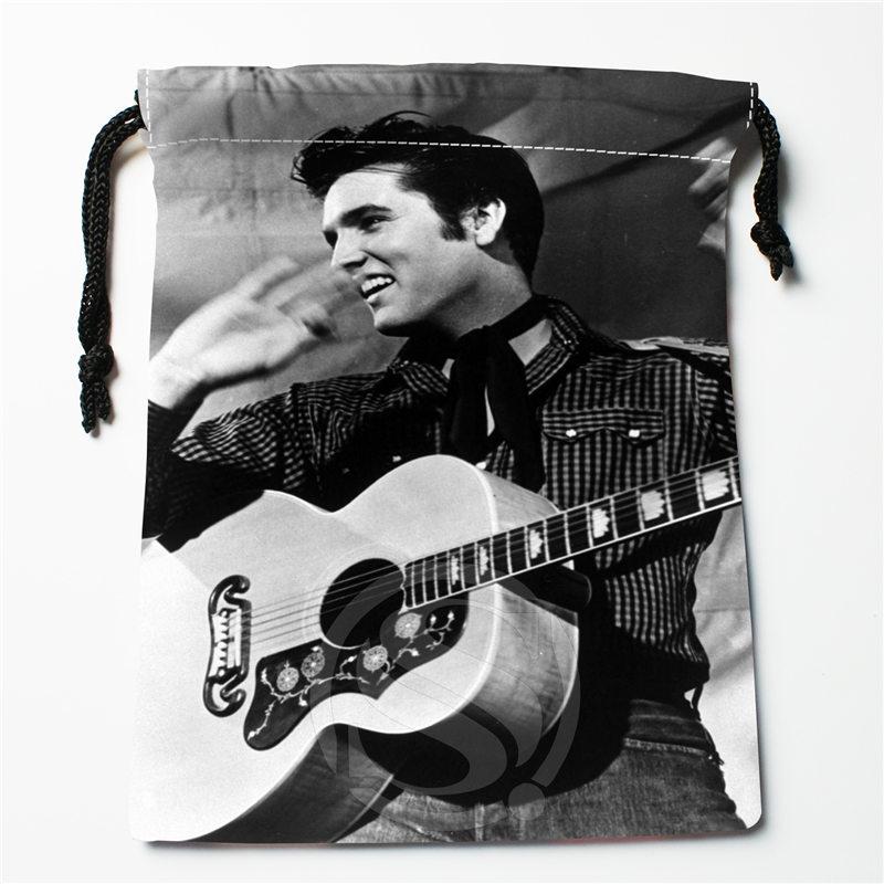 J&w1 New Elvis Presley  Custom Printed  Receive Bag Compression Type Drawstring Bags Size 18X22cm W725&JYq1