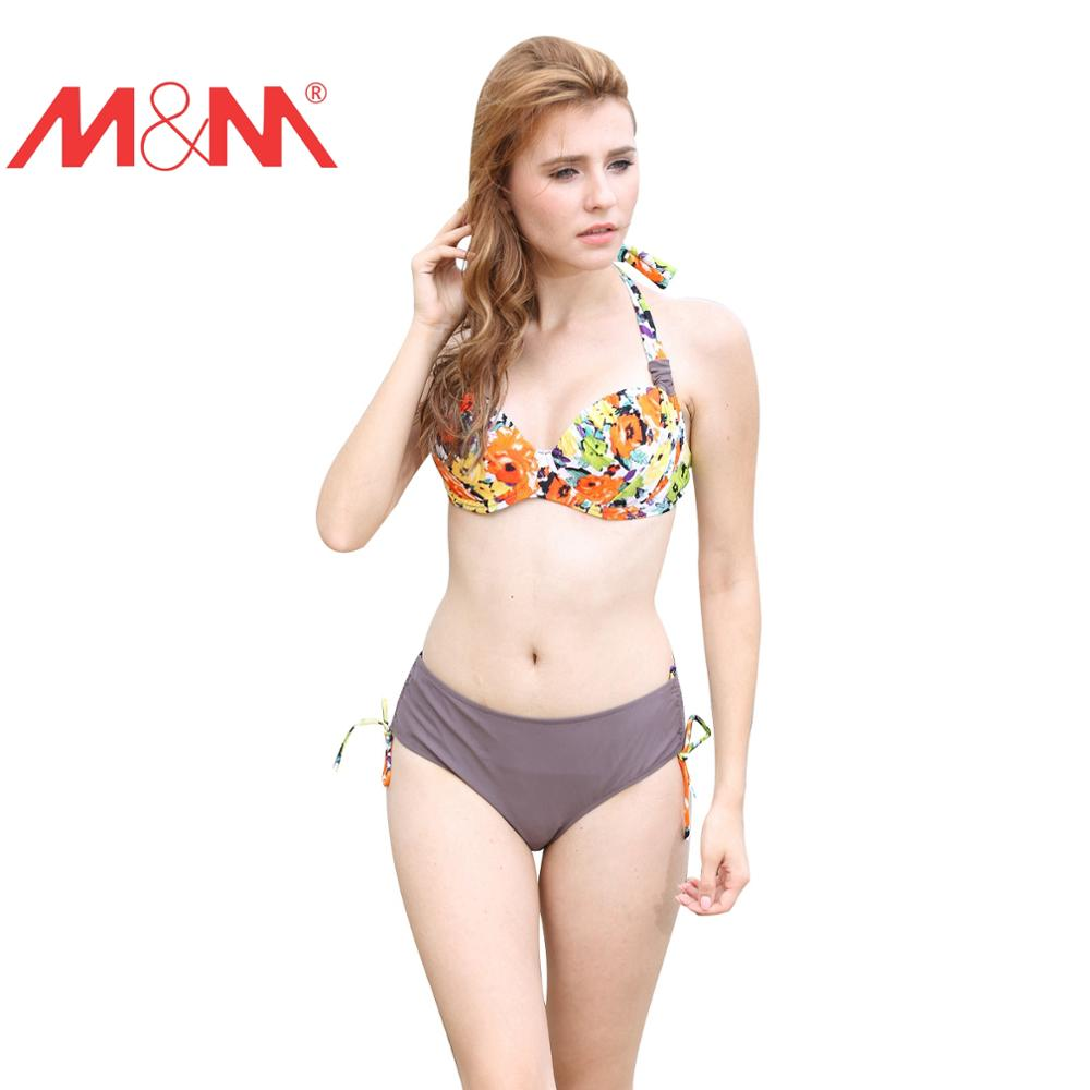 b829238f073 Floral Print Plus Size Bikini Set Push Up Swimwear Female Brazilian Big D  Cup Bath Swimming Suit For Women Beach Wear Biquini