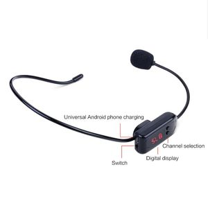 Image 2 - Black Portable FM Wireless Microphone Headset Radio Megaphone For Tour Guide Teaching Meeting Lectures Supplies