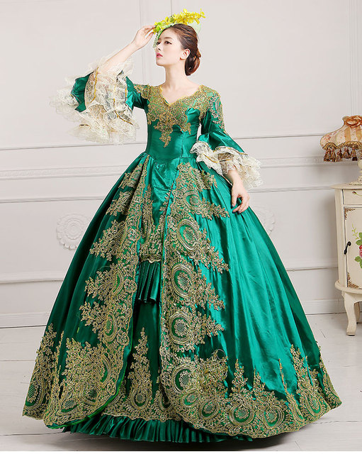 73182d3dcfbc9 European Royal Court Dress Victorian Costume Roccoo Ball Cosplay Costume  Vintage Queen Lolita Costume 3XL renaissance edwardian